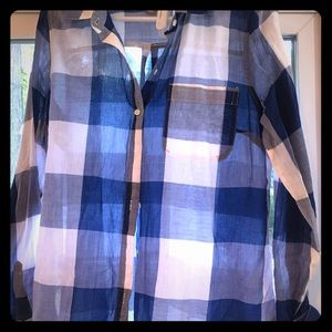 Plaid shirt, blue